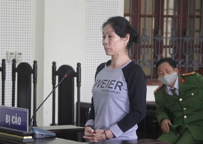 Lô Thị Chiên trong phiên xét xử
