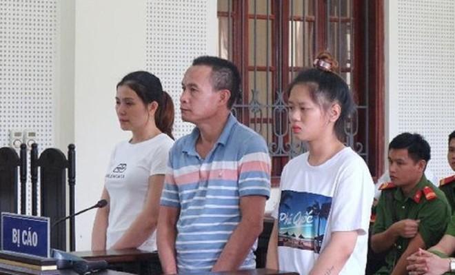 Hai vợ chồng Liên, Đắc và Lương trong phiên xét xử