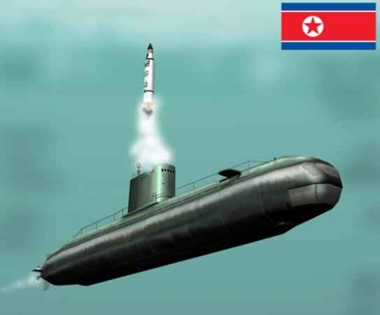 Mô hình 3D của tàu ngầm trang bị tên lửa đạn đạo (SSB) lớp Gorae mới của Triều Tiên