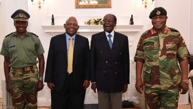 Cuộc gặp có sự hiện diện của Tư lệnh quân đội Zimbabwe, Tướng Constantino Chiwenga