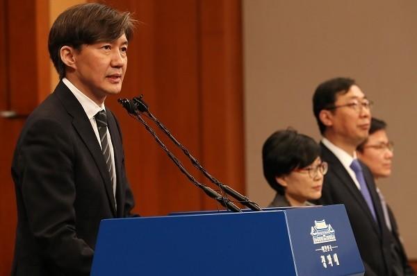 Ông Cho Kuk, thư ký cấp cao Văn phòng Tổng thống Hàn Quốc Cheong Wa Dae