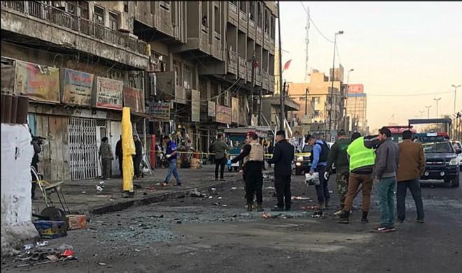 Hiện trường vụ đánh bom thứ hai