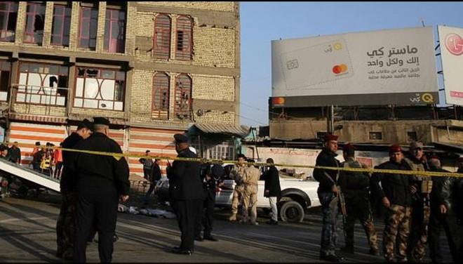Lực lượng an ninh Iraq có mặt sau vụ đánh bom tự sát