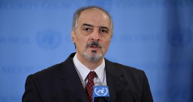 Trưởng phái đoàn đàm phán của chính phủ Syria, Tiến sĩ Bashar al-Jaafari phản đối sự hiện diện của quân đội Mỹ tại Syria