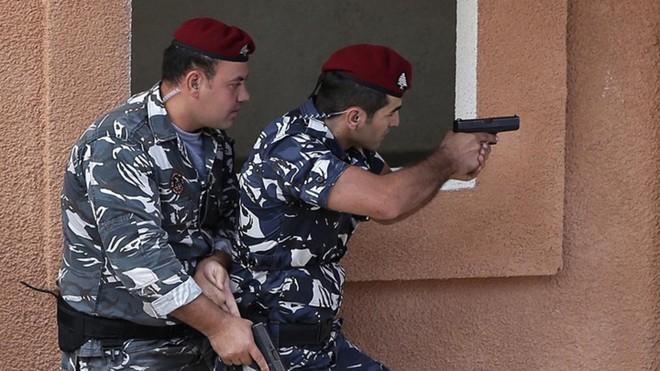 Lực lượng an ninh Lebanon trong vụ bắt giữ