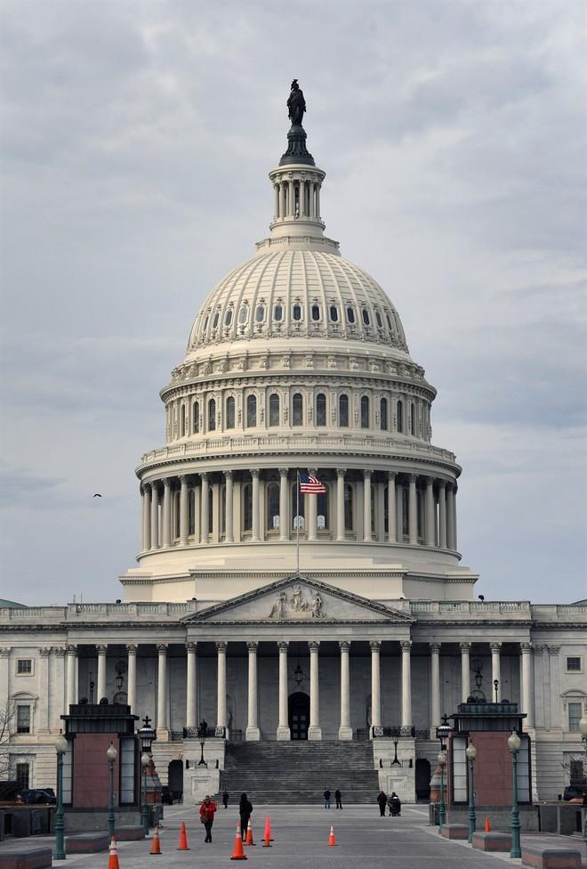 Quang cảnh tòa nhà Quốc hội Mỹ ở Washington DC., ngày 22/1