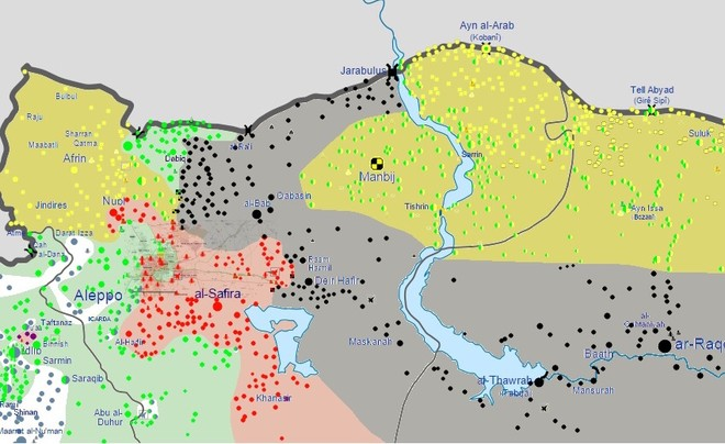 Quân đội Thổ Nhĩ Kỳ có thể sẽ mở rộng sang thị trấn Manbij và thậm chí là các khu vực phía Đông sông Euphrates