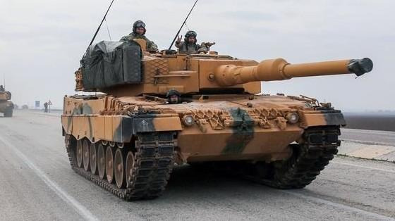 Xe tăng Leopard 2 của Đức sản xuất được Thổ Nhĩ Kỳ sử dụng trong chiến dịch tại biên giới Syria