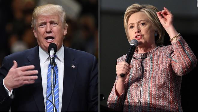 Ứng cử viên Donald Trump và Hillary Clinton trong thời gian vận động tranh cử