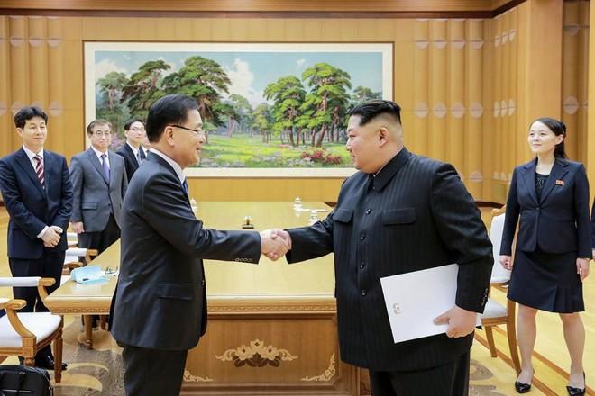 Nhà lãnh đạo Triều Tiên Kim Jong-un tiếp đoàn cấp cao Hàn Quốc