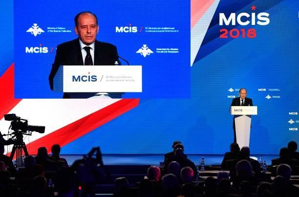 Người đứng đầu Cơ quan An ninh Liên bang Nga Aleksander Bortnikov phát biểu tại Hội nghị về an ninh quốc tế