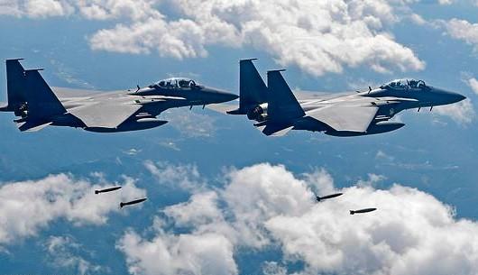 Máy bay F-15K của quân đội Hàn Quốc gặp nạn