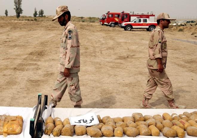 Số lượng ma tuý lực lượng an ninh Iran thu giữ trong một chiến dịch truy quét khủng bố
