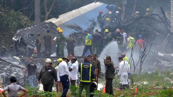 Máy bay Boeing 737 của hãng Cubana de Aviacion rơi tại sân bay quốc tế Jose Marti thủ đô Havana