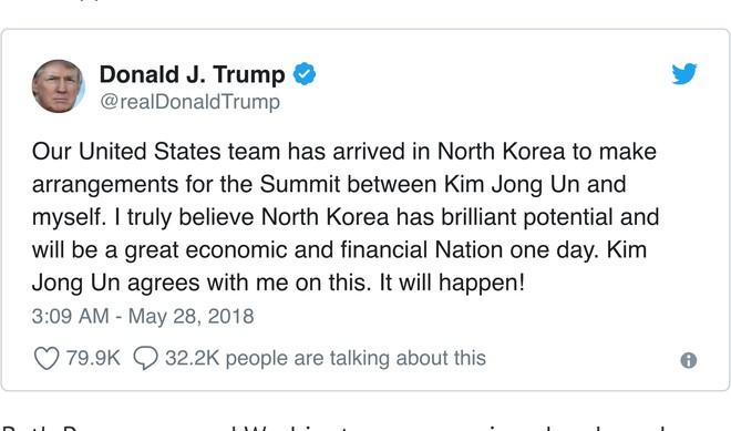 Tổng thống Mỹ tin tưởng kinh tế Triều Tiên sẽ phát triển