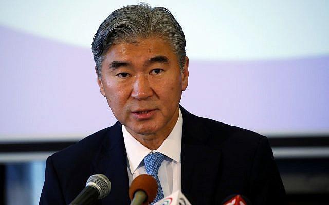 Ông Sung Kim đứng đầu phái đoàn Mỹ đang thảo luận với phía Triều Tiên tại làng đình chiến Panmunjom