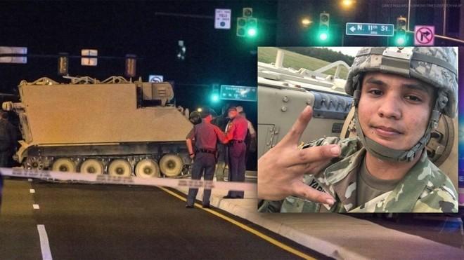 Cảnh sát đã hộ tống chiếc xe thiết giáp suốt 2 giờ đồng hồ