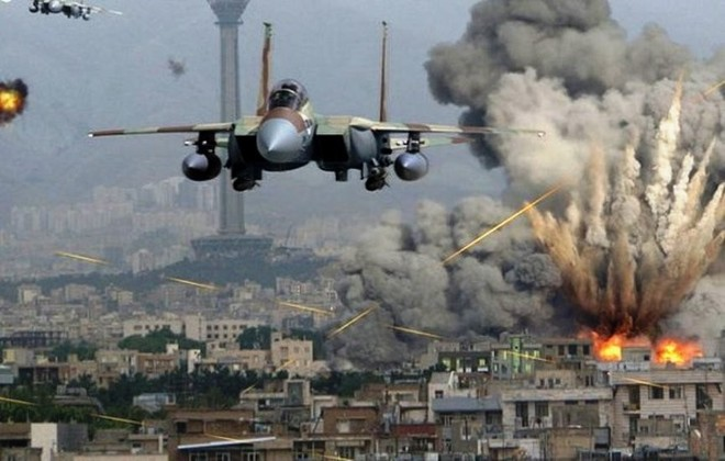 Máy bay chiến đấu của Saudi Arabia không kích một thành phố tại Yemen
