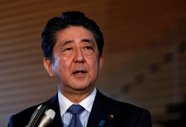 Thủ tướng Nhật Bản Shinzo Abe phát biểu trước truyền thông về hội nghị thượng đỉnh Mỹ-Triều Tiên