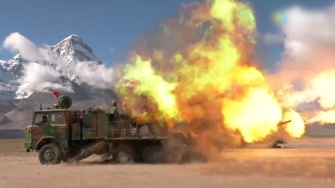 Trung Quốc thử nghiệm tập trận bắn đạn thật tại Tây Tạng
