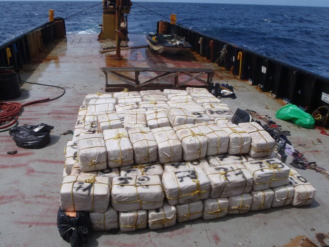 Số cocaine được vận chuyển tới các quốc gia Trung Mỹ