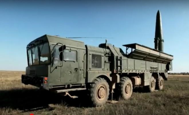 Bệ phóng di của tên lửa Iskander-M