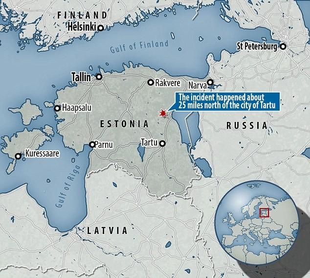 Tên lửa bắn tới vụ trí khoảng 40km về phía bắc thành phố Tartu