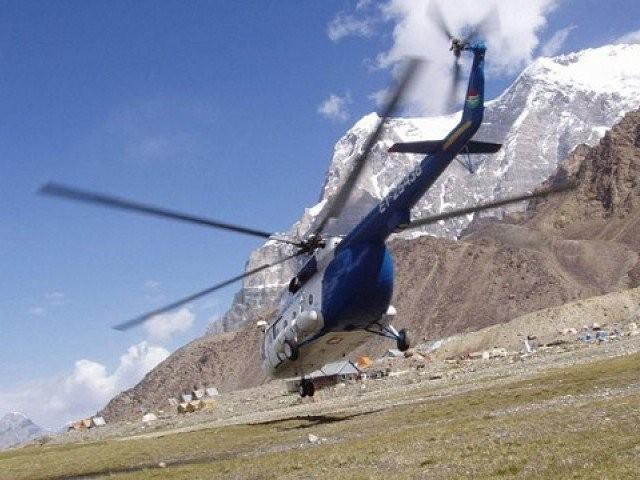 Trực thăng cứu hộ lên đường tìm kiếm vị trí máy bay hạ cánh khẩn cấp