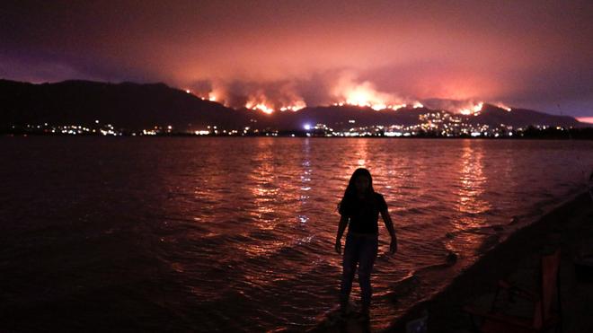 Cháy rừng tại California nhìn từ xa