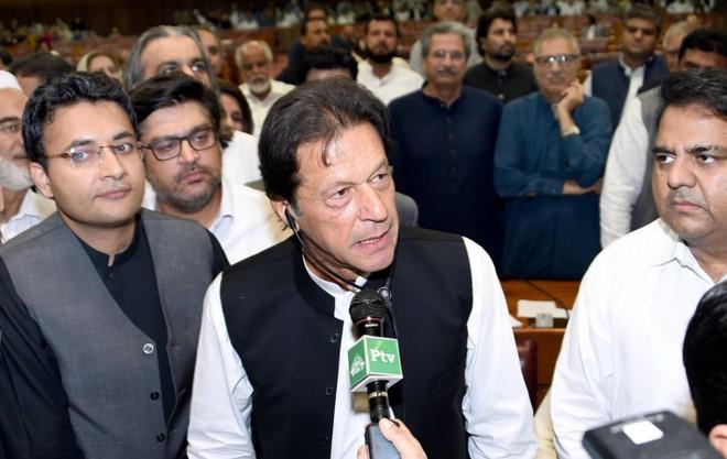 Tân thủ tướng Imran Khan phát biểu tại quốc hội