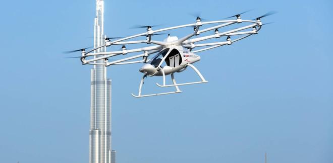 Taxi bay Volocopter đang trong giai đoạn thử nghiệm ở thành phố Dubai