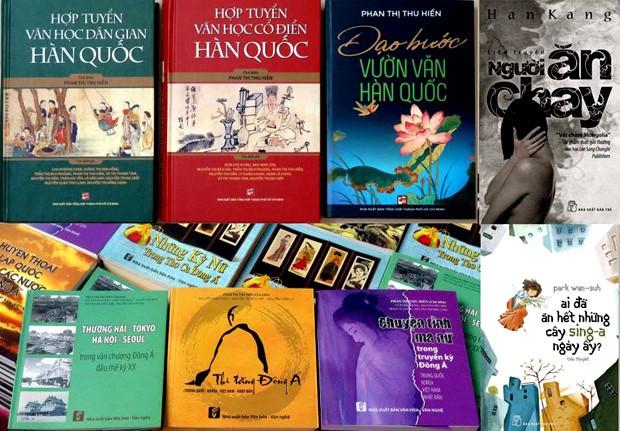 """Một số cuốn sách trong hai bộ sách """"Văn học Hàn Quốc"""" và """"Văn học Hàn Quốc trong phối cảnh Đông Á"""""""