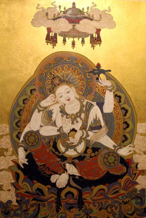 """Một tác phẩm trưng bày tại triển lãm """"Mỹ thuật Phật giáo đương đại"""""""