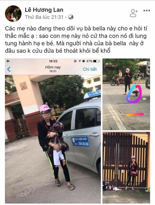 Facebook Lê Hương Lan không hiểu vì sao Bella cứ tha con đi lang thang