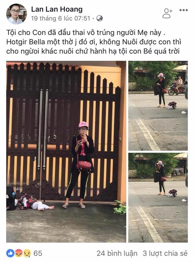 Facebook Lan Lan Hoang cho rằng nếu Bella không nuôi được con thì cho người khác nuôi chứ vứt con ở đường thì tội nghiệp cho đứa bé