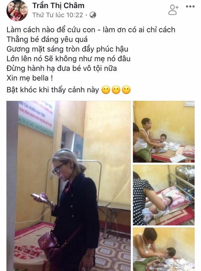 Facebook Trần Thị Châm xin Bella đừng hành hạ đứa trẻ vô tội