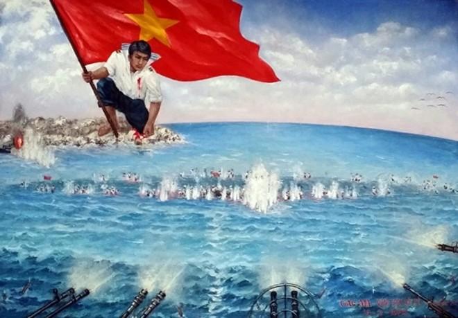 """Bức tranh """"Gạc Ma - Vòng tròn bất tử"""" - họa sĩ Bùi Lệ Trang"""