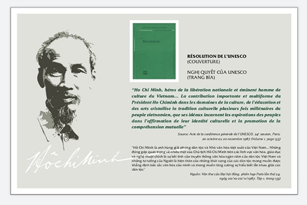 Khai mạc triển lãm về Chủ tịch Hồ Chí Minh tại trụ sở chính của UNESCO
