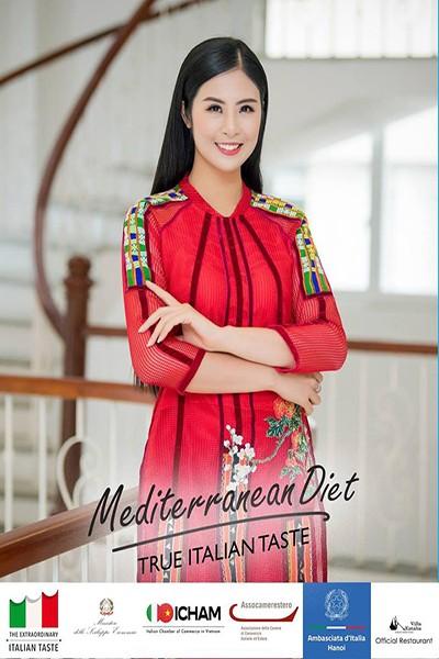 Hoa hậu Ngọc Hân trở thành Đại sứ ẩm thực Italia tại Việt Nam
