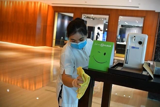 Chiến dịch toàn quốc SG Clean tuyên truyền các biện pháp vệ sinh thành tiêu chuẩn thông thường mới. (Ảnh: Tổng Cục Du lịch Singapore)