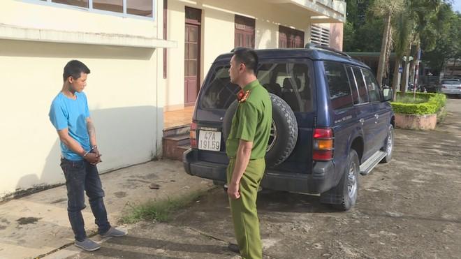 Cơ quan công công an làm việc với Nguyễn Đức Trung cùng chiếc xe tang vật