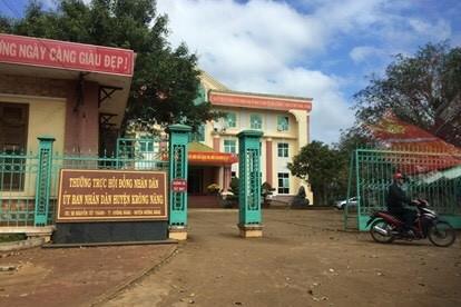 Trụ sở UBND huyện Krông Năng nơi ông Sáu từng công tác