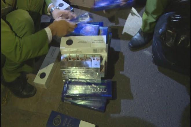 Số thuốc lá lậu bị phát hiện trên xe khách