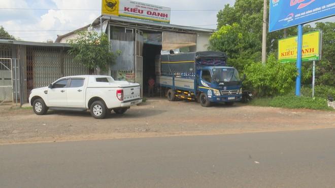 Cửa hàng phân bón Kiều Oanh, nơi phát hiện hàng chục tấn phân bón