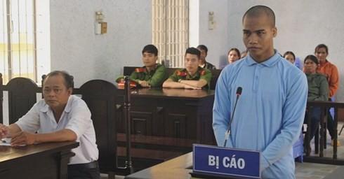Bị cáo Y Thưa Niê tại phiên tòa xét xử