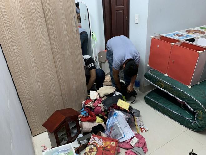 Cơ quan công an khám xét tại căn nhà Hạnh thuê để mua bán ma túy