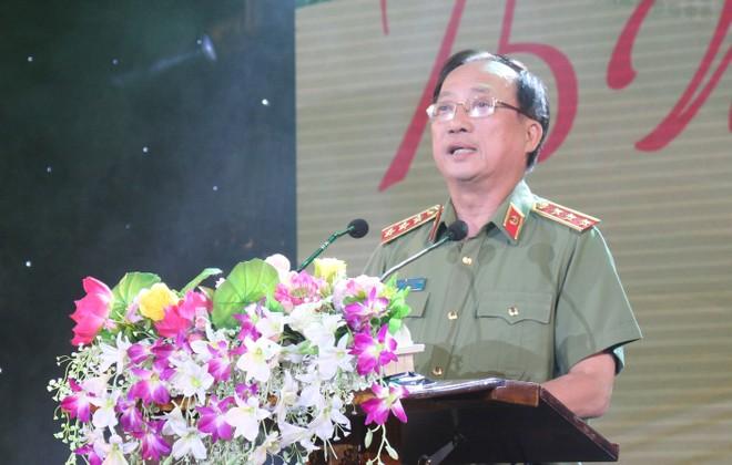 Thượng tướng Nguyễn Văn Thành - Ủy viên Trung ương Đảng, Thứ trưởng Bộ Công an phát biểu tại lễ khai mạc Hội diễn nghệ thuật quần chúng CAND lần thứ 11, khu vực IV, năm 2020