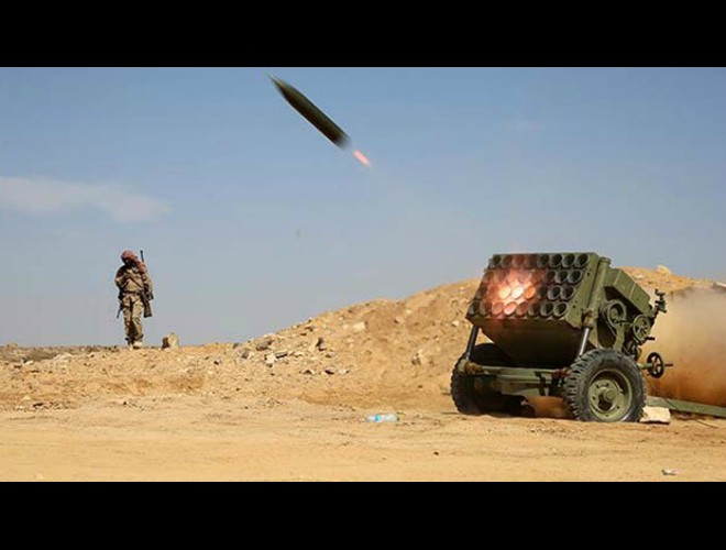 Ả-Rập Saudi chặn đứng tên lửa Badr-1 của phiến quân Houthi ảnh 1