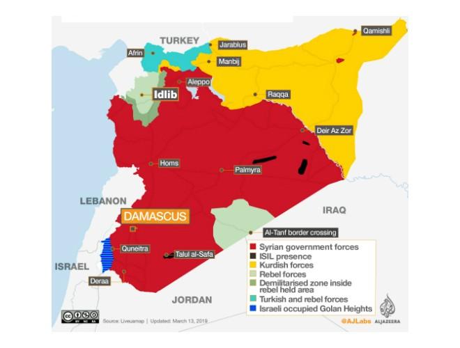 Syria: Bản đồ tuơng quan lực lượng sau 7 năm nội chiến ảnh 1