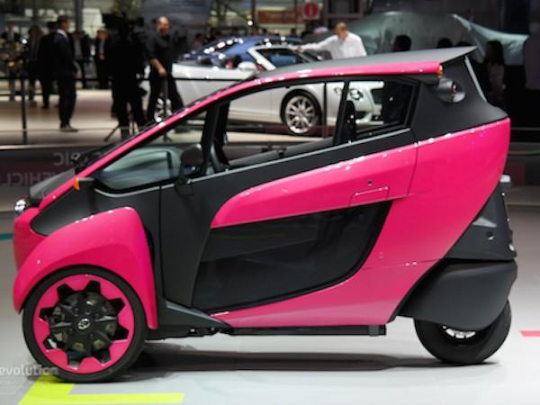Toyota i-Road hồng rực ấn tượng tại triển lãm xe Paris ảnh 4